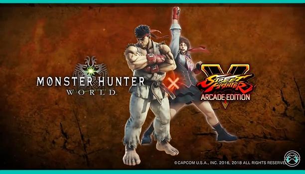 Ryu y Sakura de Street Fighter V unirán fuerzas en Monster Hunter World