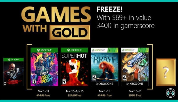 Games With Gold marzo 2018 – Xbox One y Xbox 360