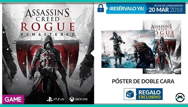 La reserva de Assassin's Creed Rogue Remastered tiene regalo en GAME