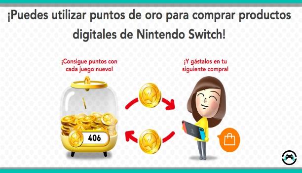 Ya podemos gastar los puntos Oro My Nintendo en la eShop