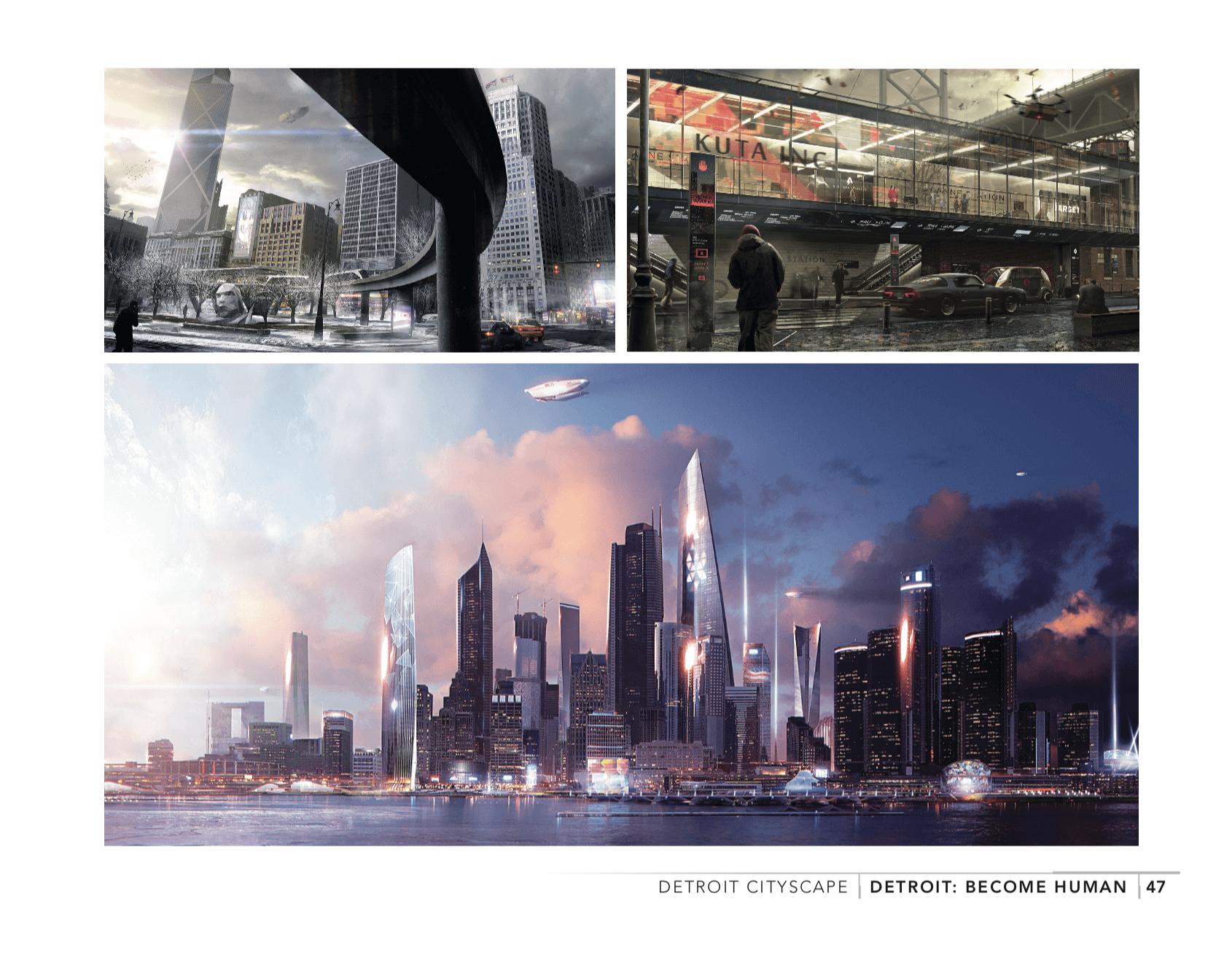 El libro de Detroit: Become Human muestra sus ilustraciones