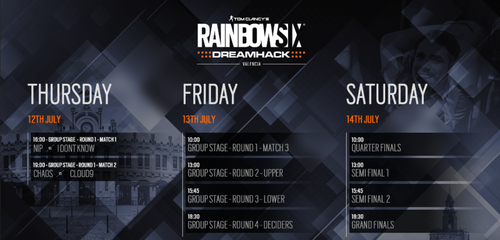 Rainbow Six Siege tendrá un Open BYOC Qualifier en la DreamHack Valencia
