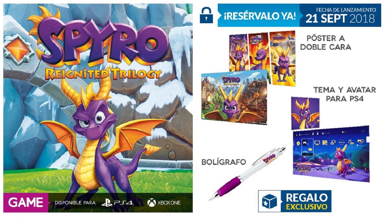 GAME muestra sus regalos exclusivos para Spyro: Reignited Trilogy