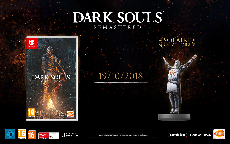 Dark Souls Remastered llega en octubre a Switch