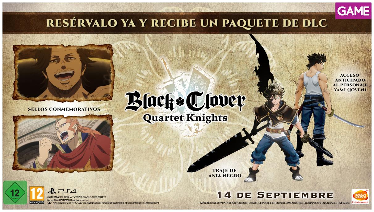 Esta semana se pone a la venta Black Clover: Quartet Knights el videojuego de Bandai Namco basado en el conocido shonen de acción y fantasía de Yuki Tabata, del cual hace poco se hizo una serie de anime.