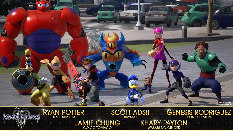Elenco de actores original de Big Hero 6 para Kingdom Hearts 3