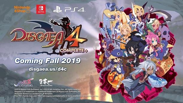 Disgaea 4: Complete Edition+ se lanzará en Nintendo Switch y PS4
