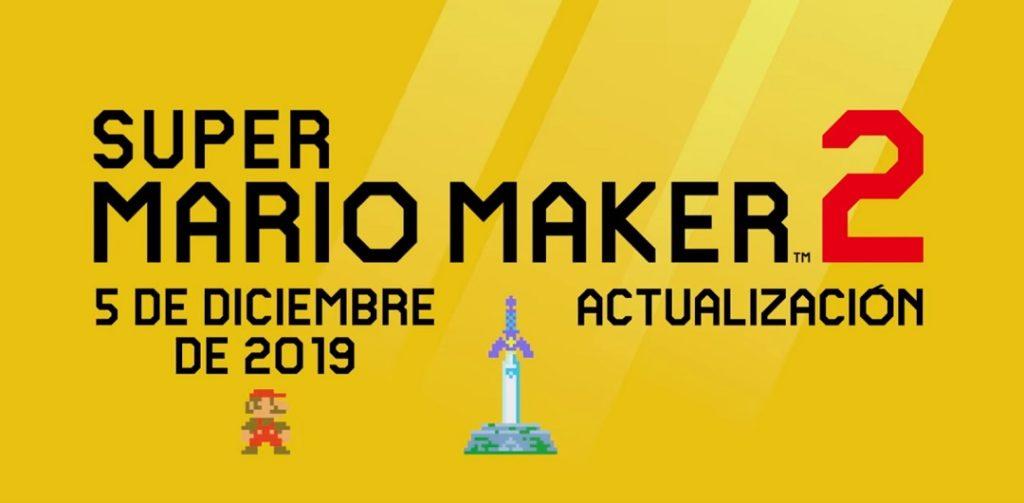 Super Mario Maker 2 presenta una nueva actualización llena de novedades y...¿Zelda Maker?
