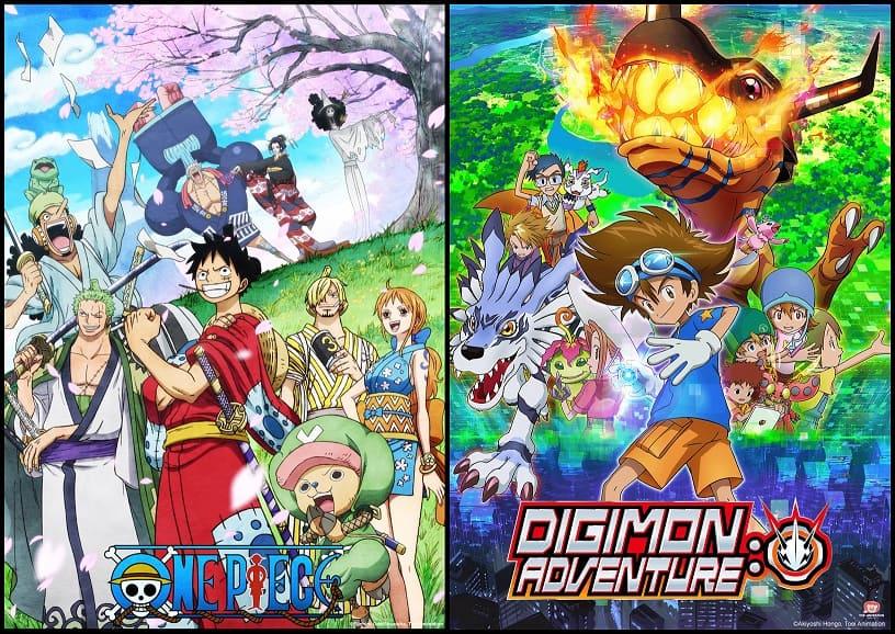 One Piece y Digimon Adventure