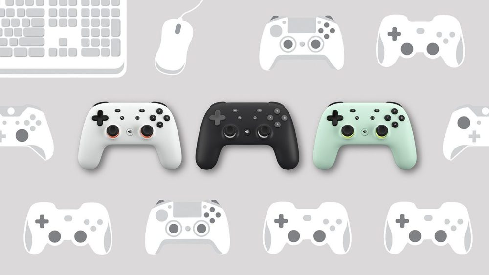 Variedad de mandos para Google Stadia