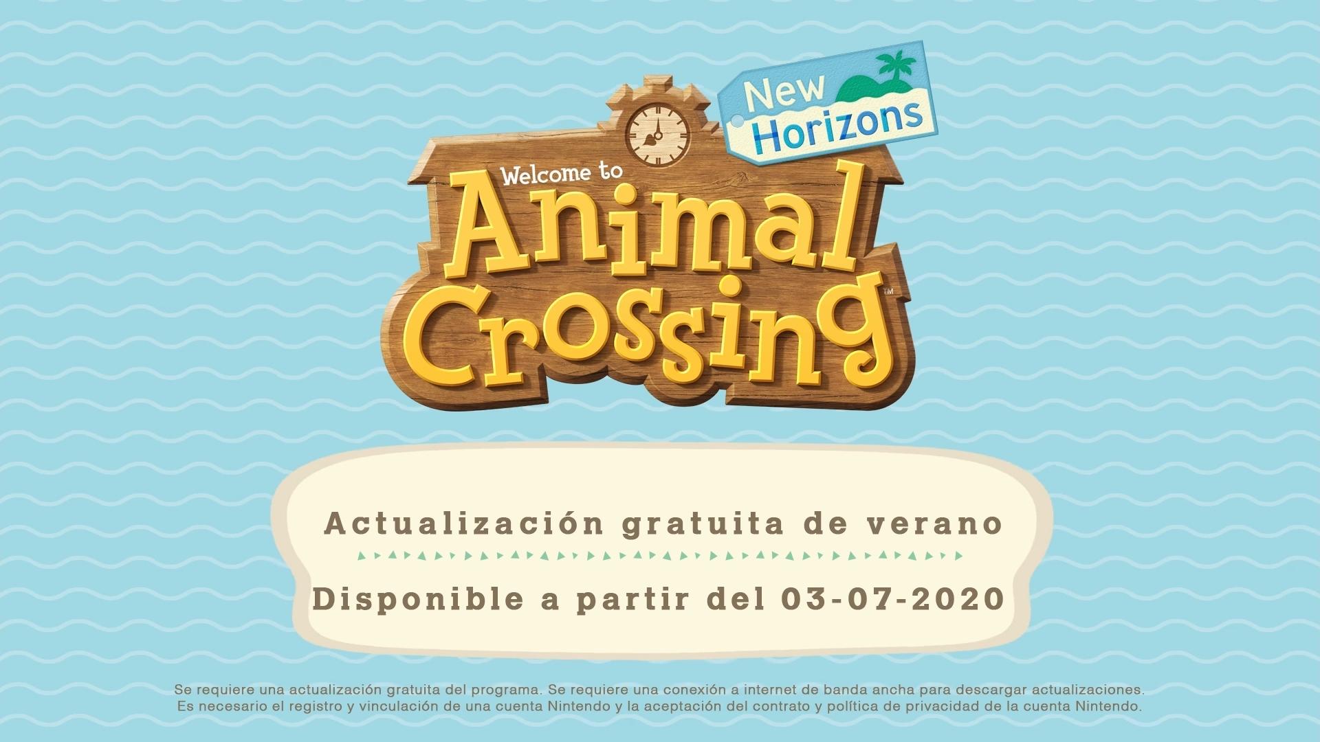 Anunciada primera actualización veraniega de Animal Crossing: New Horizons