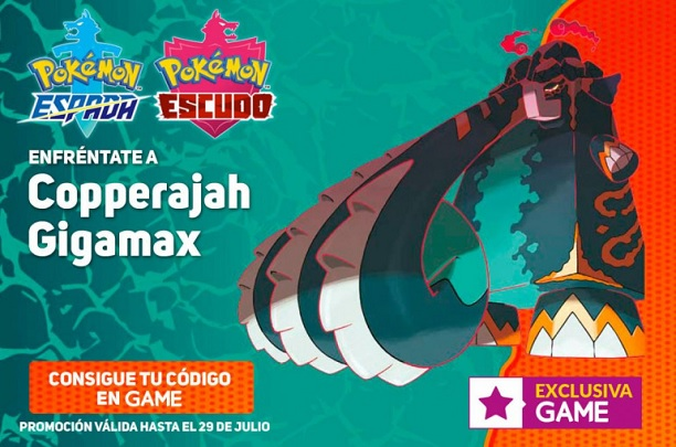 GAME entrega una Incursión especial de Copperajah para Pokémon: Espada y Escudo