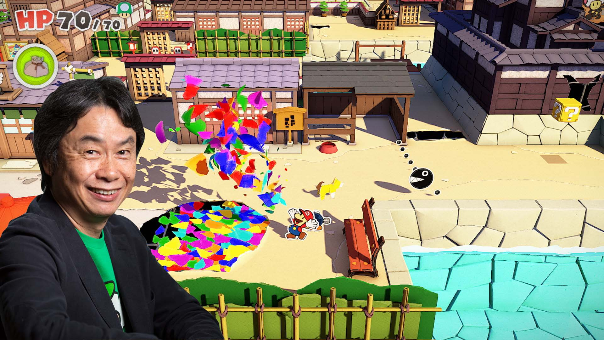 Shigeru Miyamoto apenas estuvo involucrado en Paper Mario The Origami King